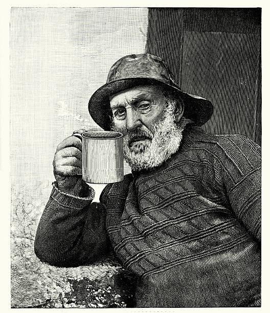 19 世紀の漁師 - 漁師点のイラスト素材/クリップアート素材/マンガ素材/アイコン素材