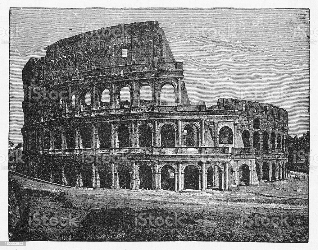 19th century illustration of Colosseum at Rome royalty-free 19th century illustration of colosseum at rome stock vector art & more images of 19th century