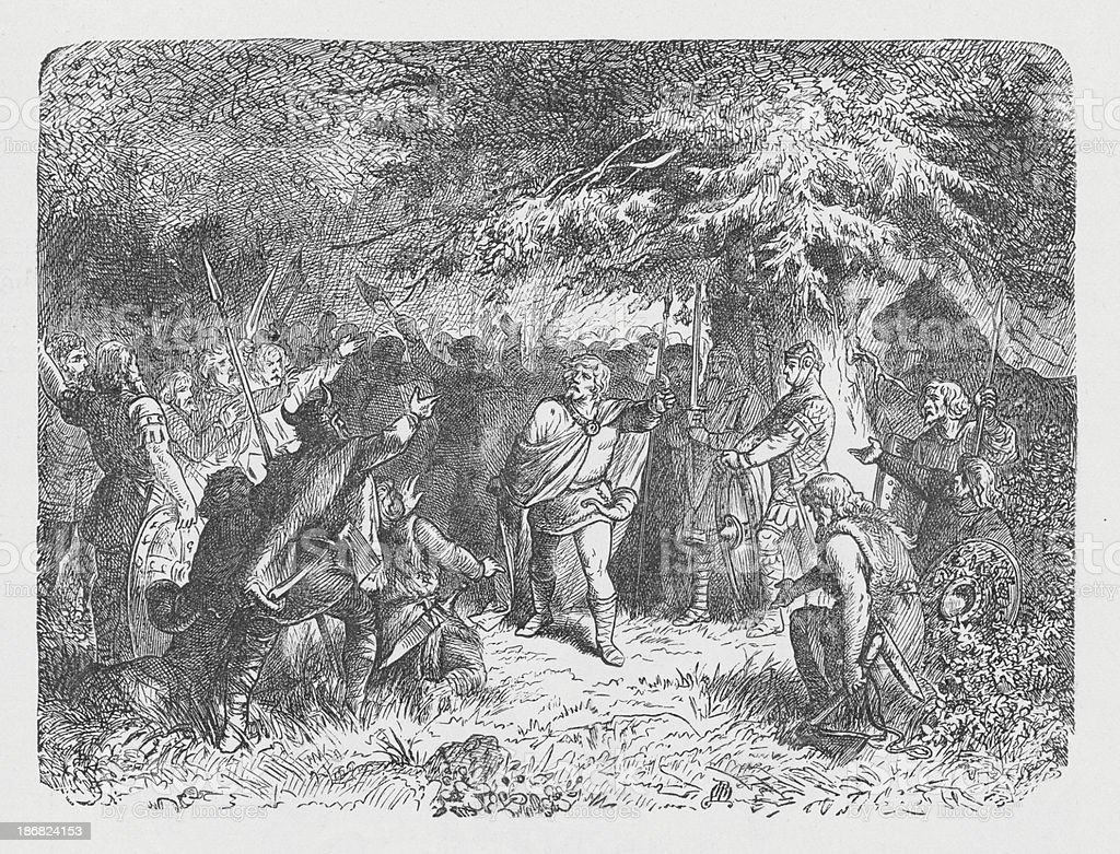 19th century illustration of Witikind calling his saxons to arms royalty-free 19th century illustration of witikind calling his saxons to arms stock vector art & more images of 19th century