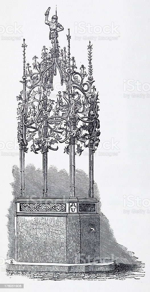 19th century illustration of wrought iron fountain royalty-free 19th century illustration of wrought iron fountain stock vector art & more images of 19th century