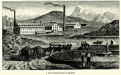 19th Century Mexico - Silver smelting plant