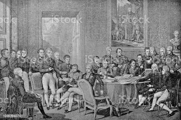 19th Century Milestones The Congress Of Vienna 1814 - Immagini vettoriali stock e altre immagini di 1890-1899