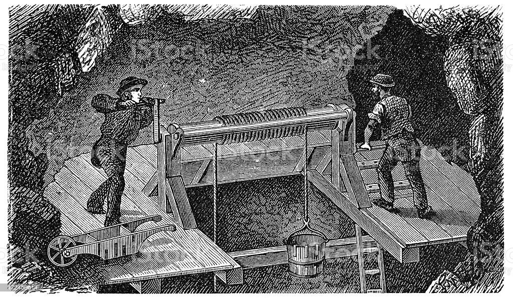 19th Century Miners royalty-free 19th century miners stock vector art & more images of 19th century
