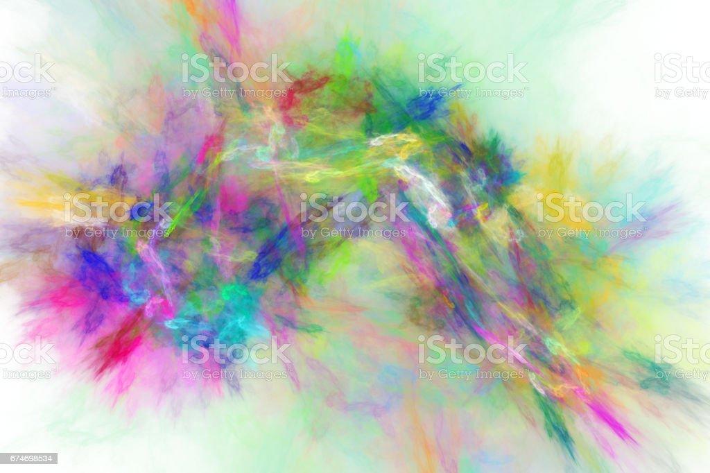 3d abstract fractal illustration background for creative design vector art illustration