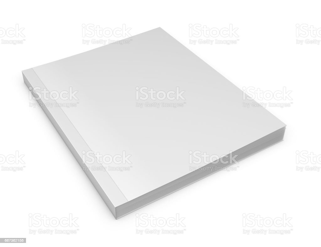 3d catalog or magazine blank cover mock up 3d illustration. vector art illustration
