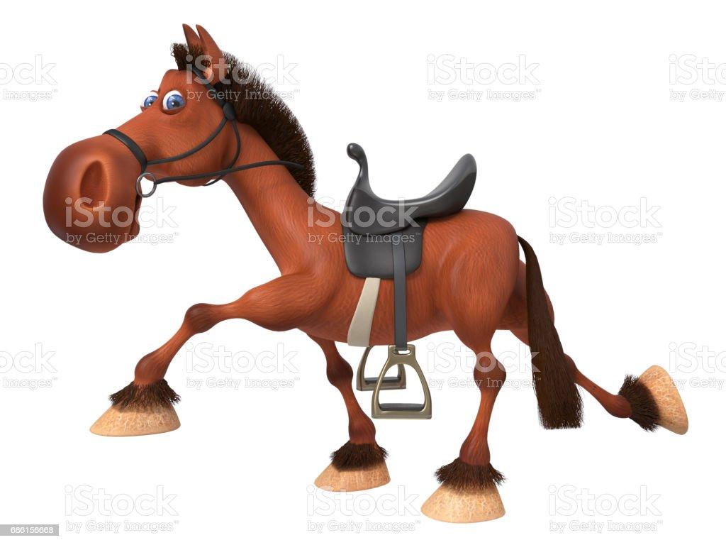 3 d イラスト美しい湾の馬 ベクターアートイラスト
