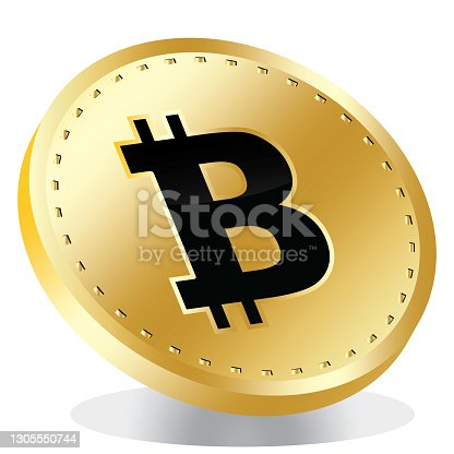 istock 3d illustration bitcoin icon on a white background 1305550744