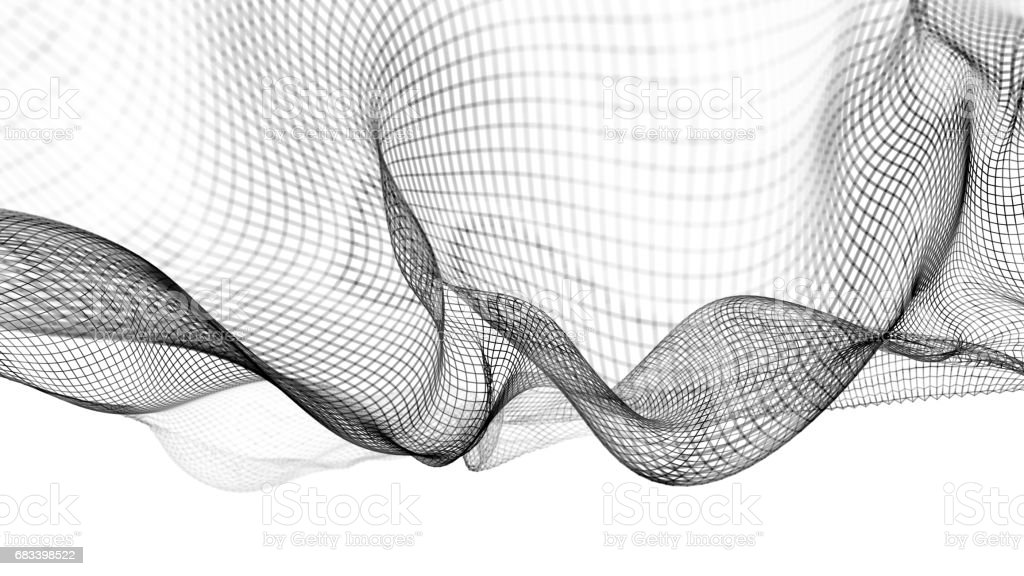 3d illustration of abstract wave structure scientific background vector art illustration