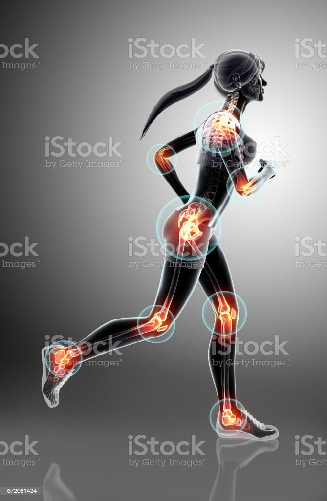 3d illustration - woman runing pose. vector art illustration