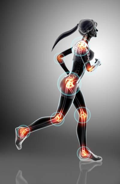3d illustration - woman runing pose. vector art illustration