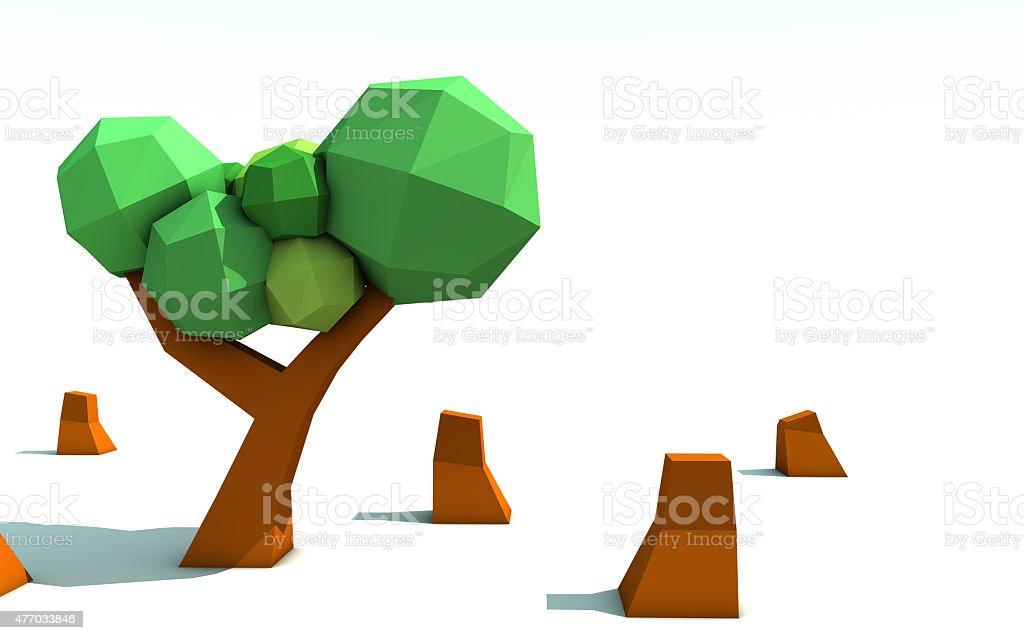 Origami rainforest tree