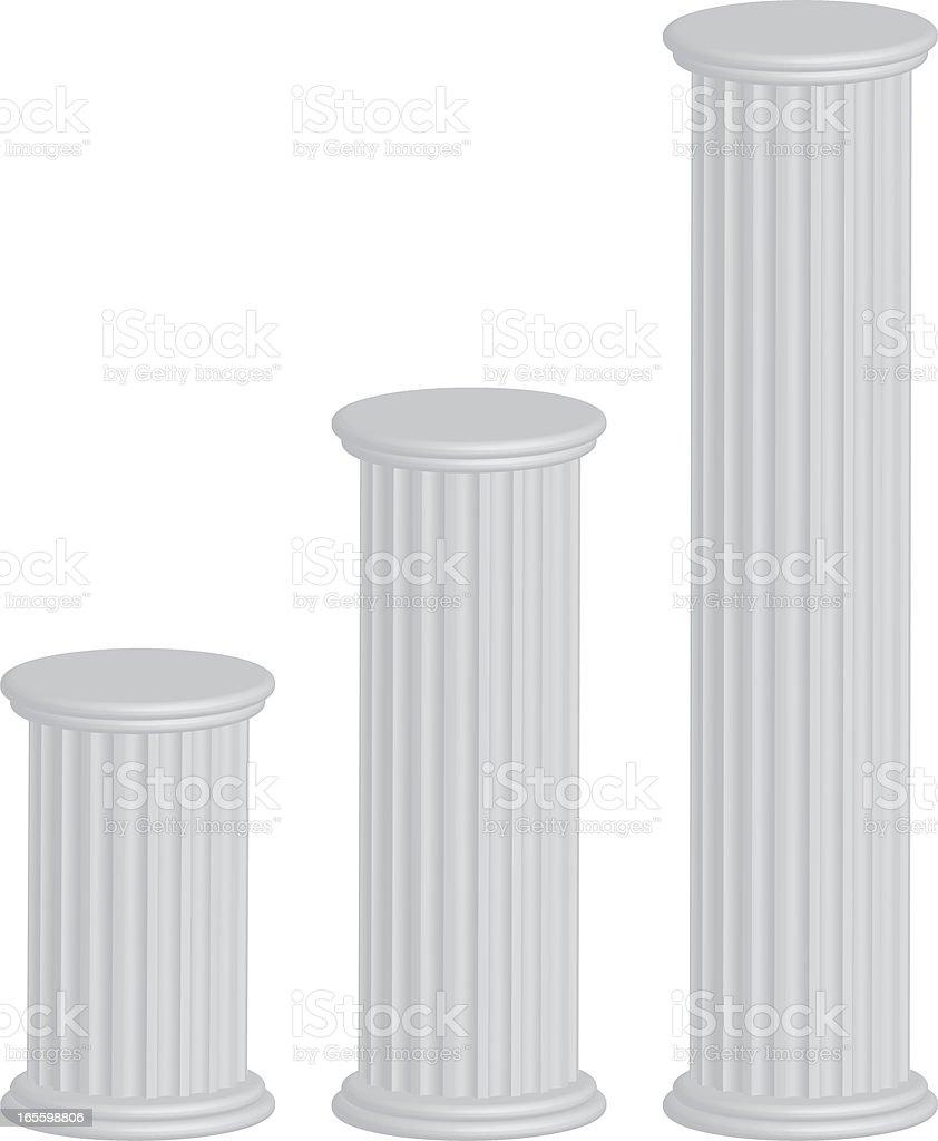 3d pillars vector art illustration
