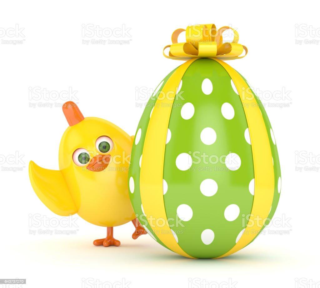 Boyalı Yumurta Paskalya Fıstıkla 3d Render Stok Vektör Sanatı