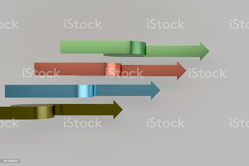3d Rendering Abstract Colorful Sign For Info Graphic Design