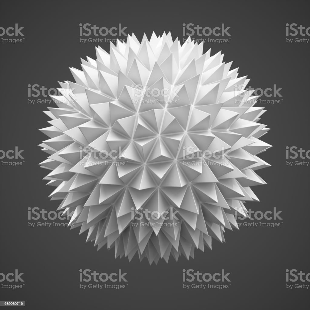 3d Rendering abstract sphere on dark grey background vector art illustration