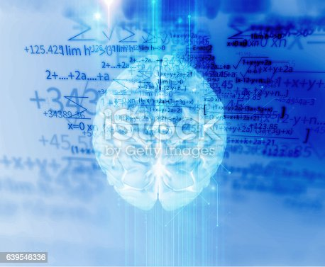 611992272 istock photo 3d rendering of human  brain on technology background 639546336