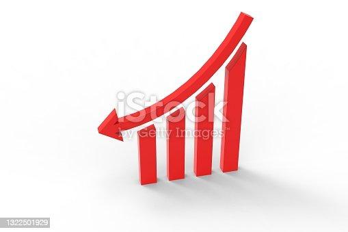 istock 3d revenue down graph 1322501929