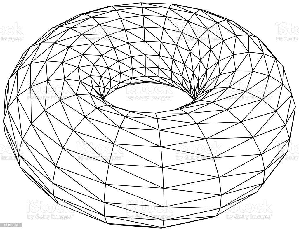 3d torus - vector vector art illustration