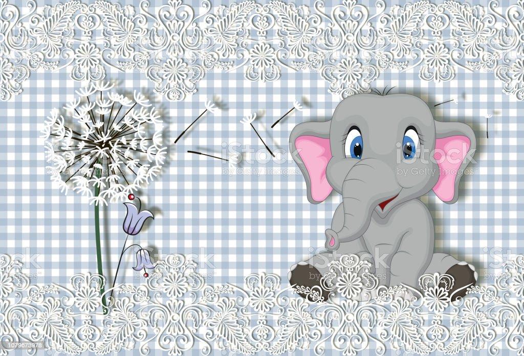 Fond Decran 3d Fond De Joli Bebe Avec Petit Elephant