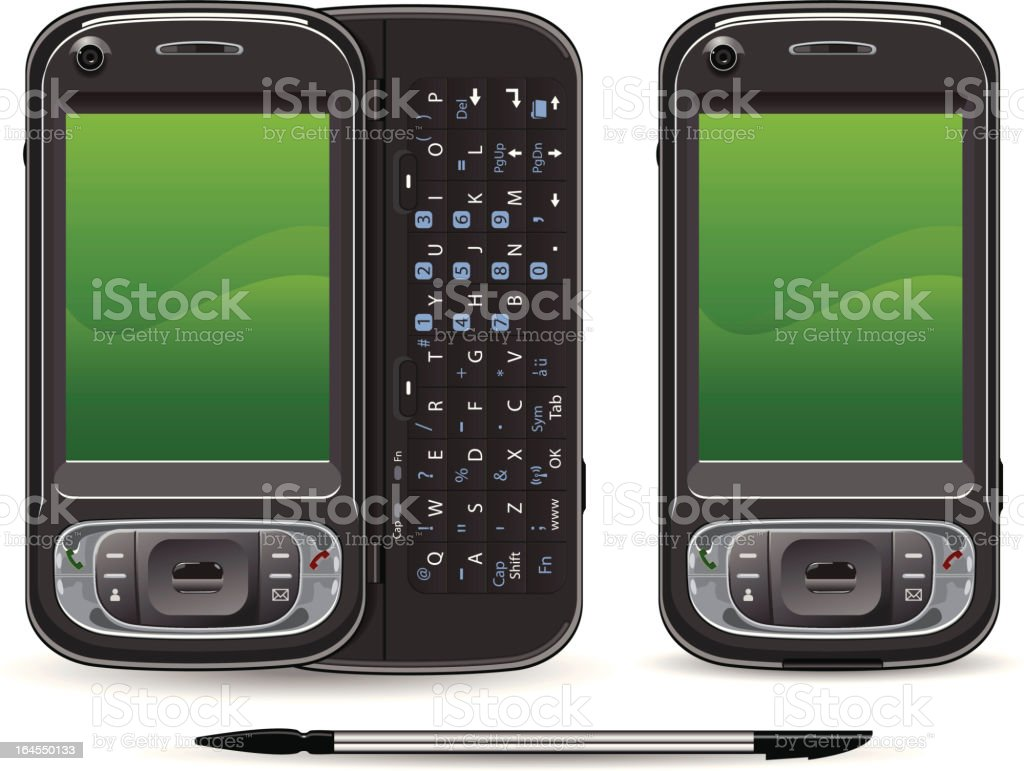 3rd Generation (3G) PDA royalty-free 3rd generation pda stock vector art & more images of 3g