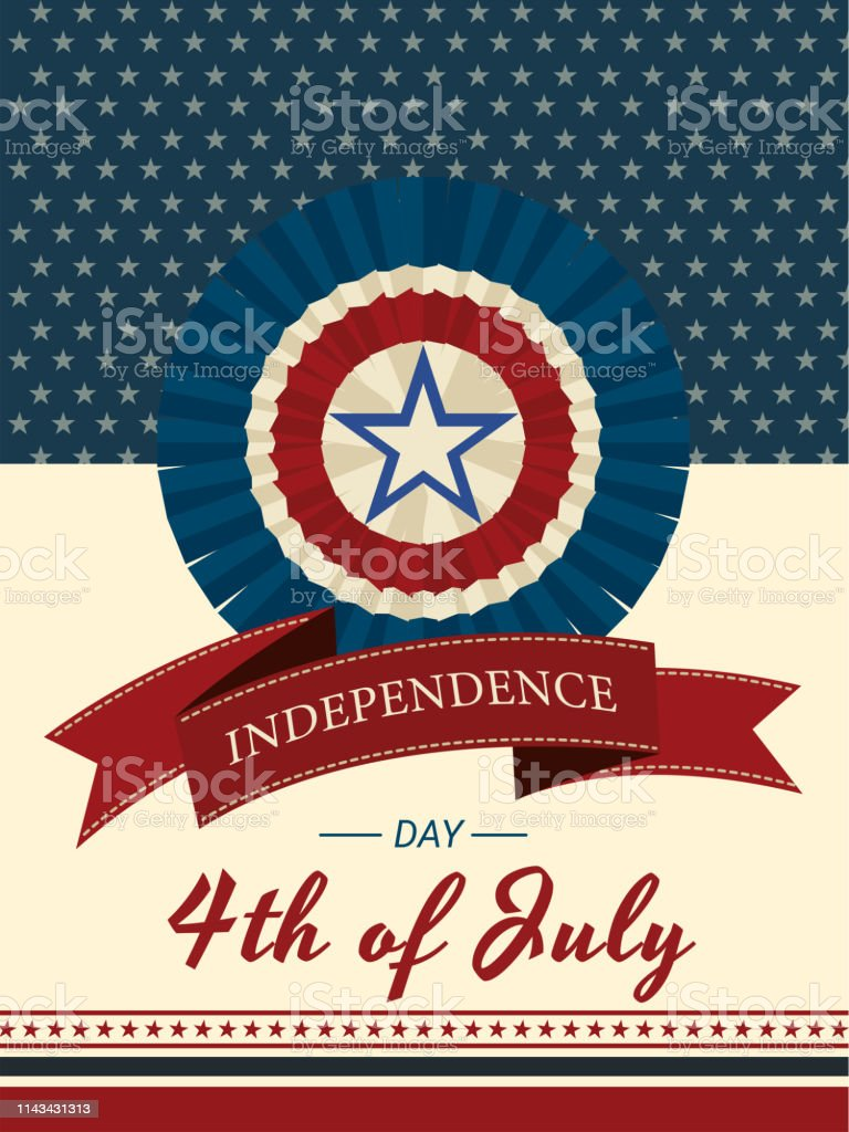 4th Of July Independence Day Invitation Card Or Template