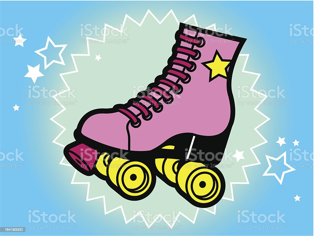 royalty free roller skate clip art vector images illustrations rh istockphoto com roller skates clip art black and white roller skates clipart images