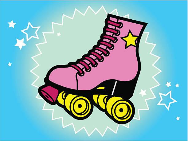 80 krawatten-roller skate - rollschuh stock-grafiken, -clipart, -cartoons und -symbole