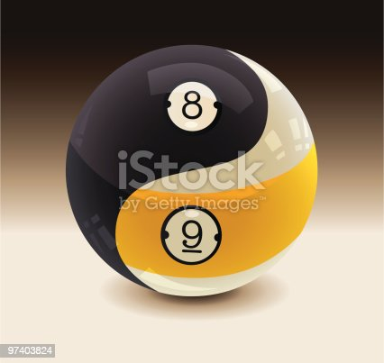 istock 8-Ball and 9-Ball Yin Yang 97403824