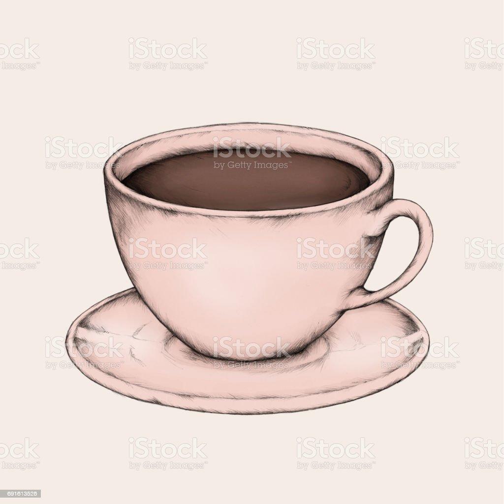Eine Tasse Kaffee – Vektorgrafik