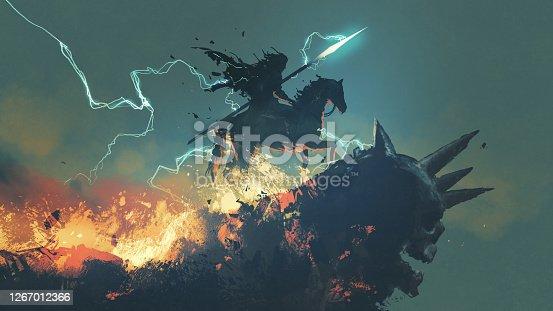 istock a dark knight from the underworld 1267012366