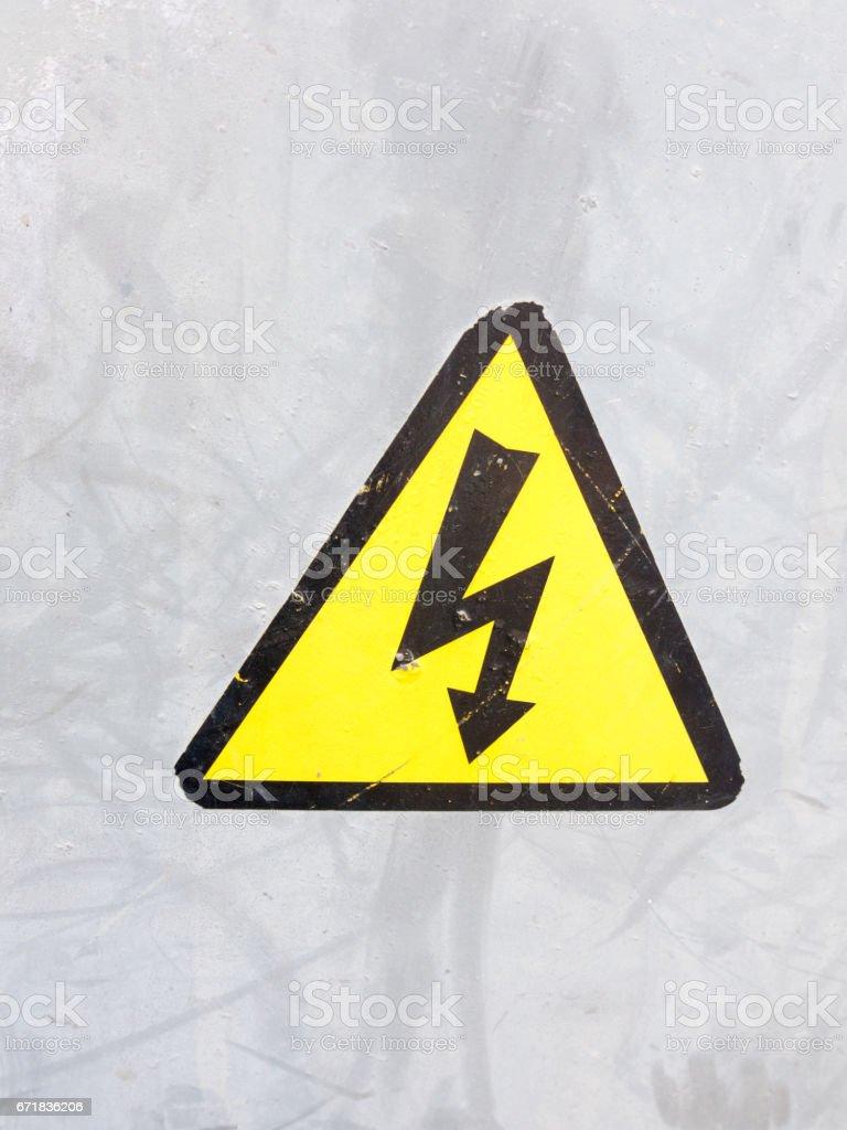 Ilustración de Un Signo De Seguridad Color Amarillo Y Negro En El ...