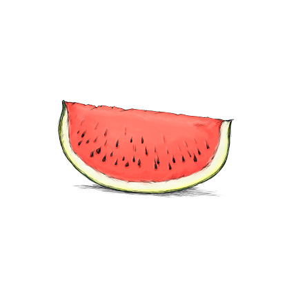 a Sliced watermelon
