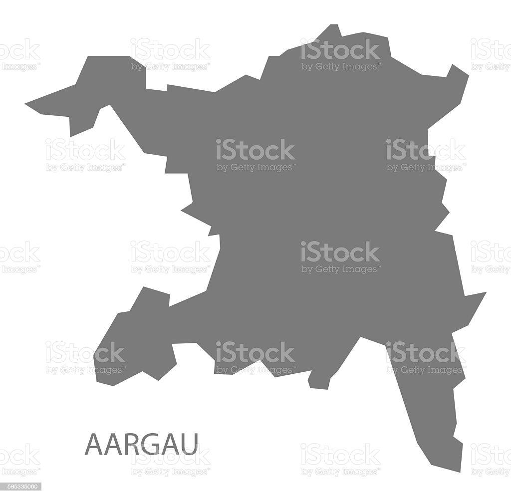 Aargau Switzerland Map Grey Stock Vector Art More Images of Aargau
