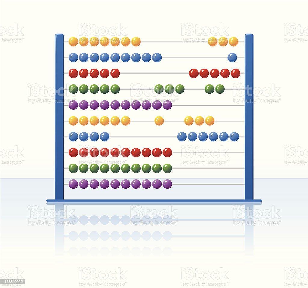 Abacus vector art illustration