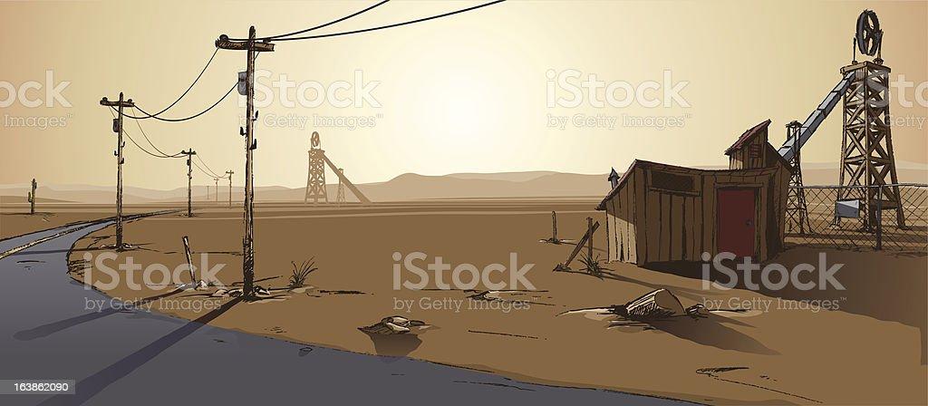 Abandoned Mine vector art illustration
