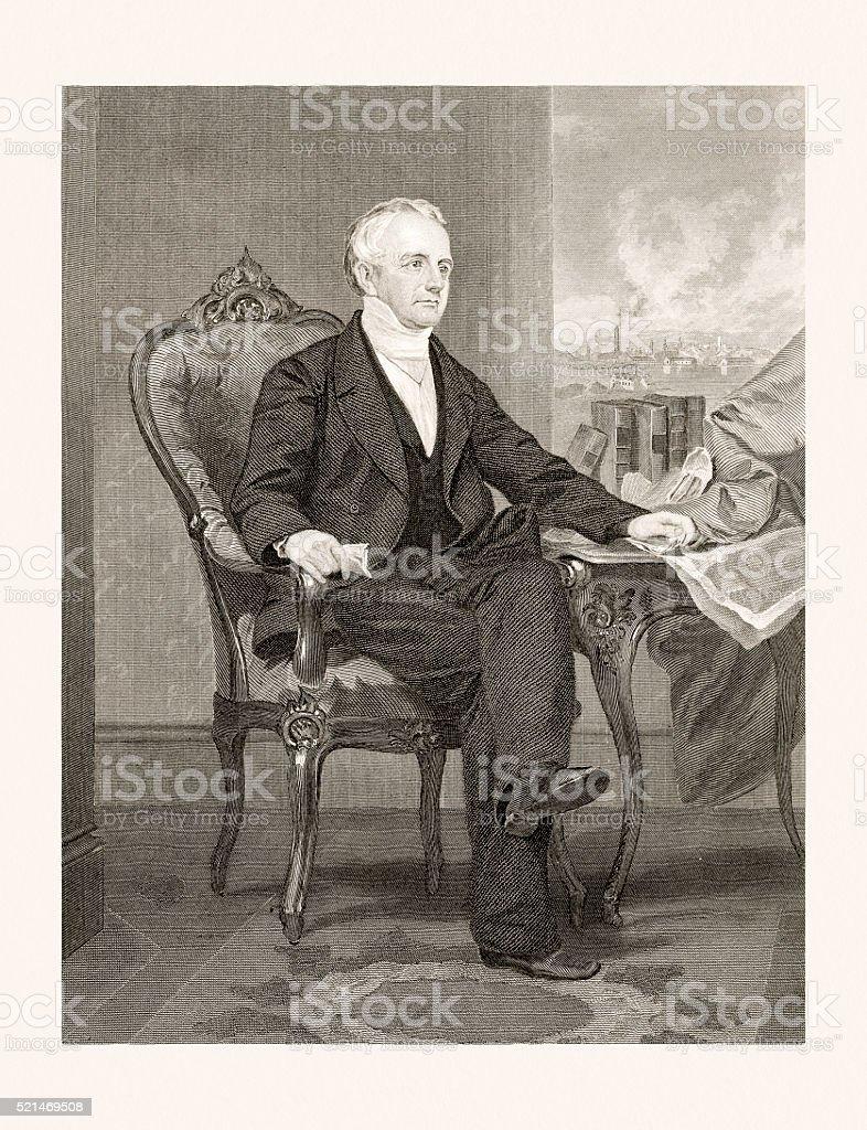 Abbott Lawrence 19 Century Portrait Stock Vector Art & More