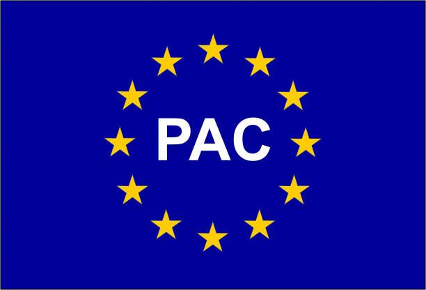 PAC, Abkürzung der gemeinsamen Agrarpolitik auf Französisch – Vektorgrafik