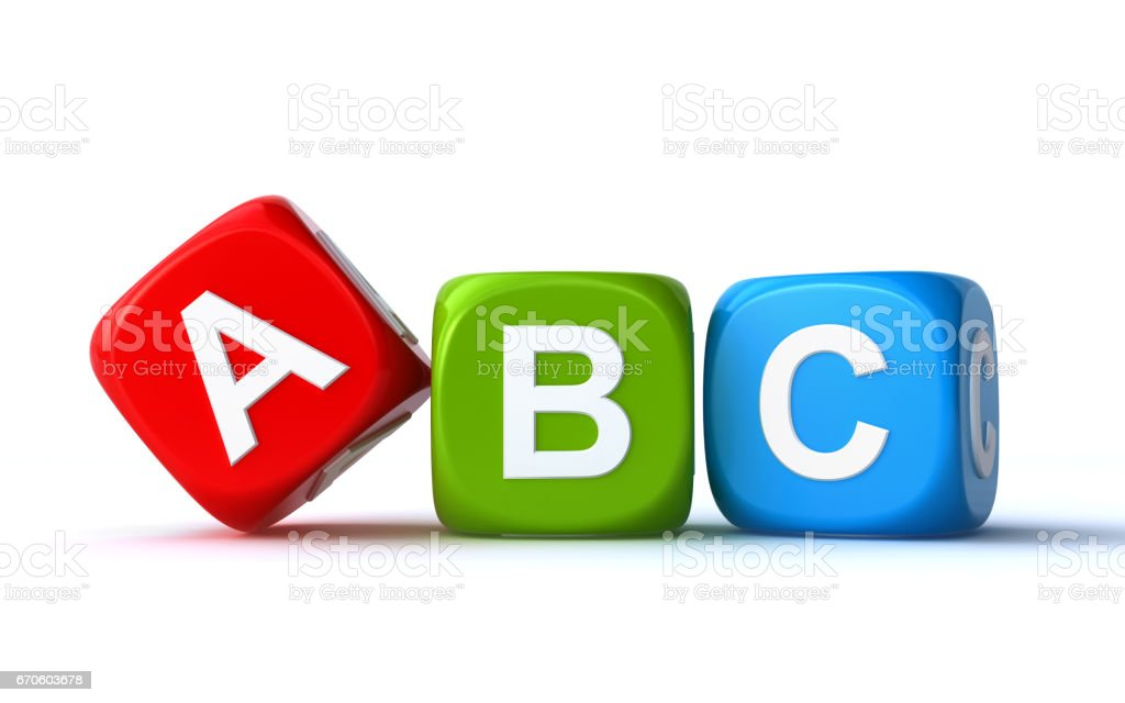 abc cubes vector art illustration
