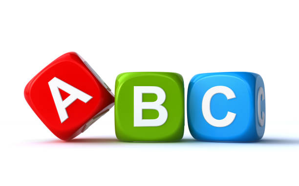 abc cubes - blocks stock illustrations, clip art, cartoons, & icons