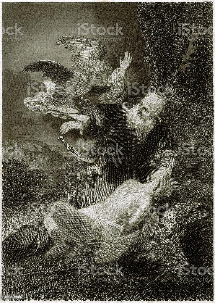 Abraham and Isaac (Genesis 22,12) royalty-free stock vector art