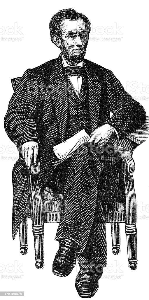 Abraham Lincoln vector art illustration