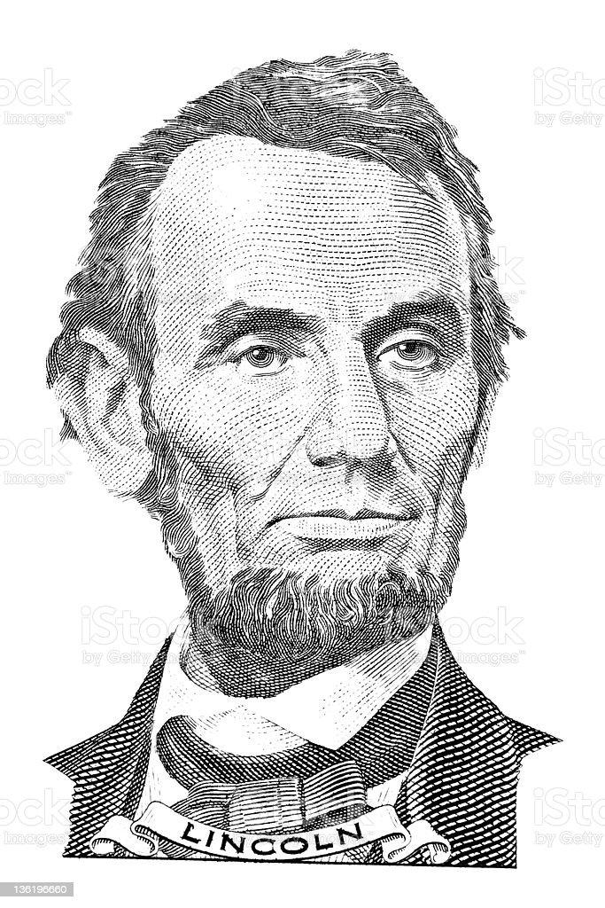 Abraham Lincoln portrait vector art illustration