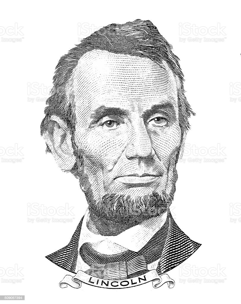 Abraham Lincoln portrait vector art illustration