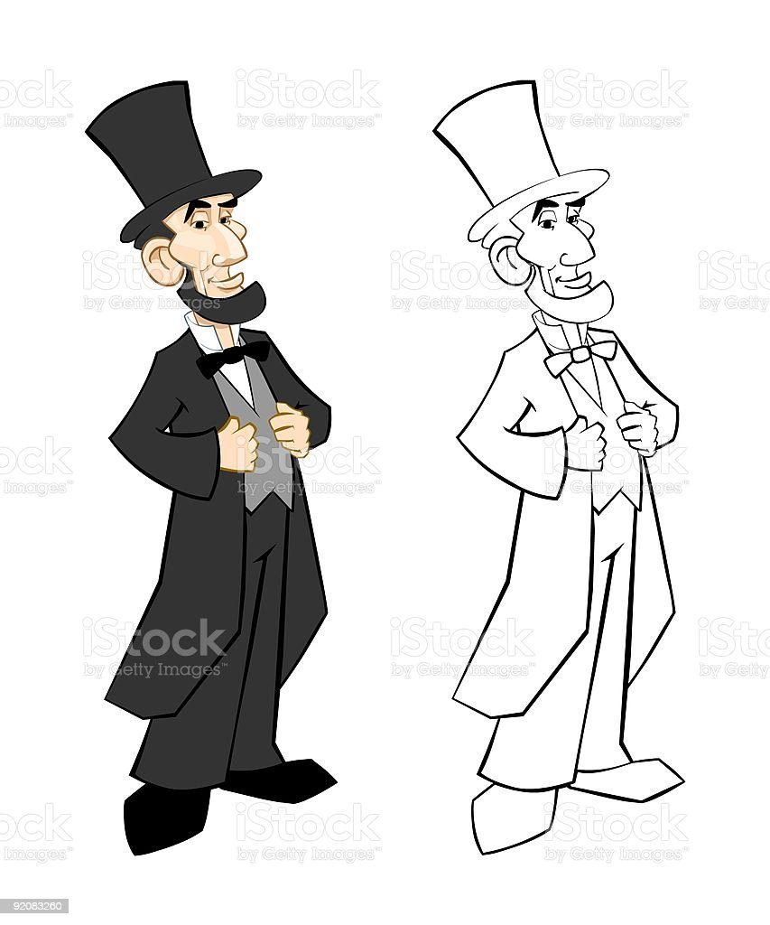 Abraham Lincoln Standing vector art illustration