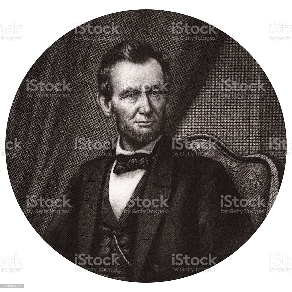 Abraham Lincoln,16th President of the United States royalty-free stock vector art