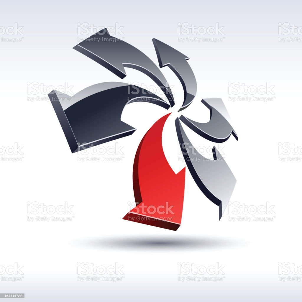 Abstract 3d icon. royalty-free abstract 3d icon stock vector art & more images of arrow symbol