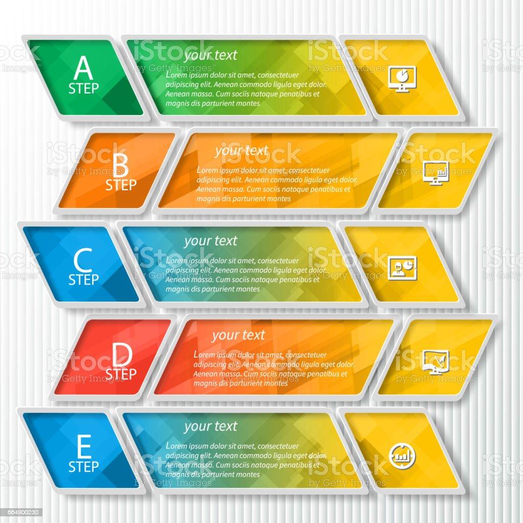Abstract 3D Paper Infographics abstract 3d paper infographics - immagini vettoriali stock e altre immagini di affari royalty-free