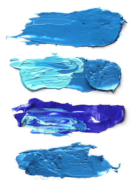 abstract acrylic brush strokes. - acrylic painting stock illustrations