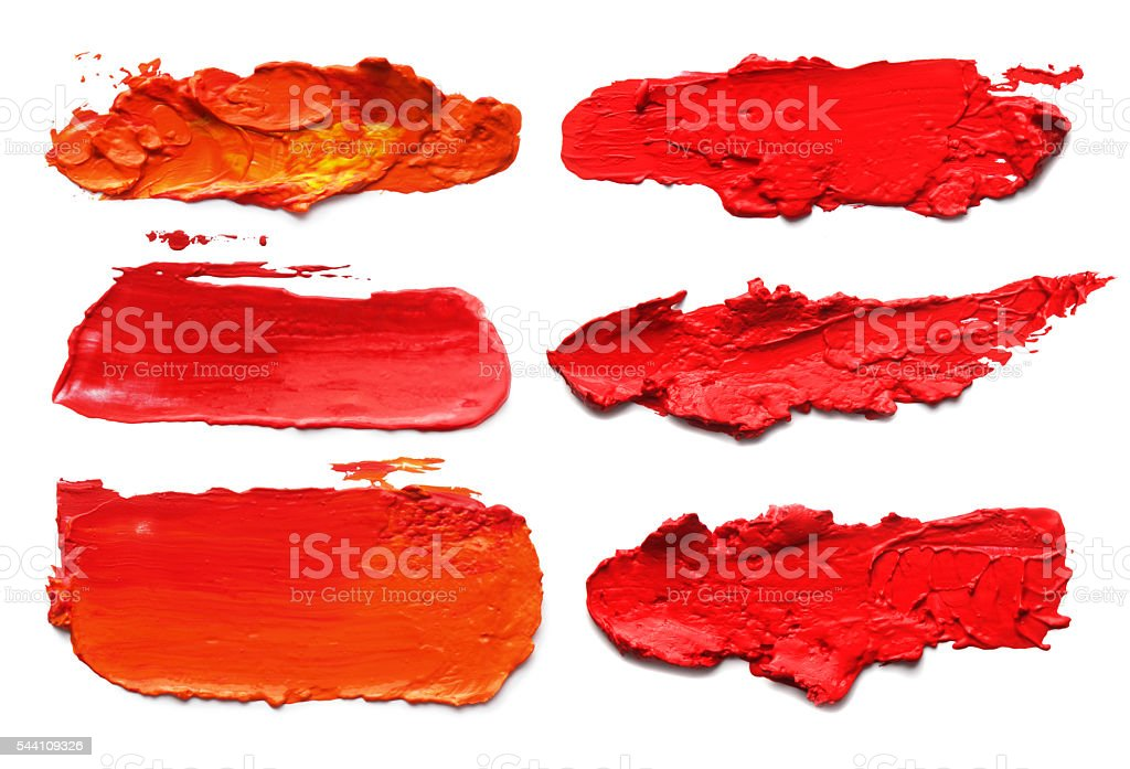 Abstract acrylic brush strokes. vector art illustration