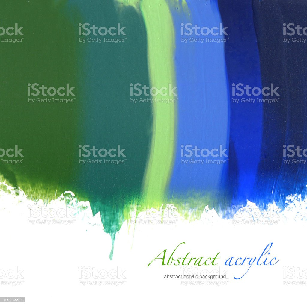 Abstract acrylic hand painted background vector art illustration